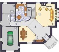 План первого этажа проекта Темза 250