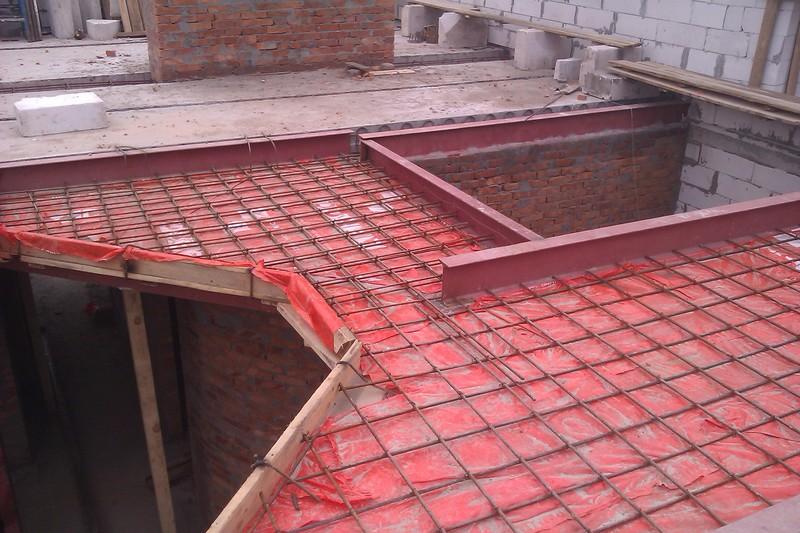 заливка бетоном монолитных участков