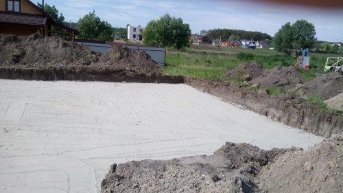 Песчаная подушка под строительство дома