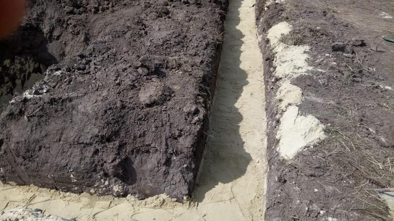 Устройства песчаной подушки