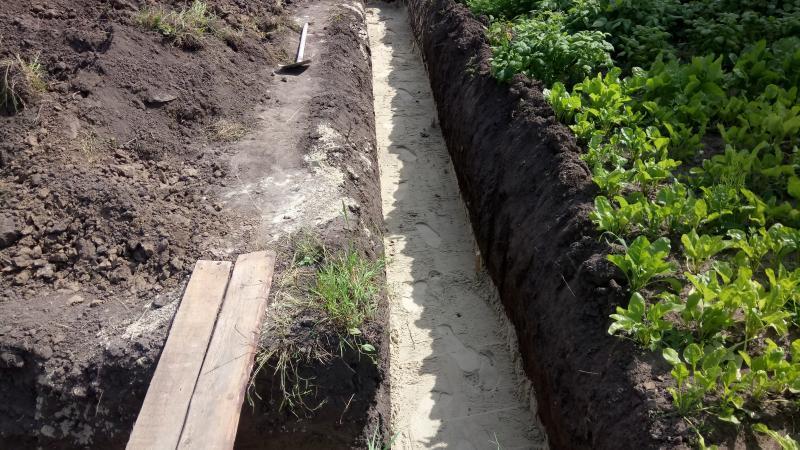 Устройства песчаной подушки 30мм