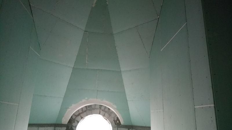 Монтаж потолков из гипсокартона в холе