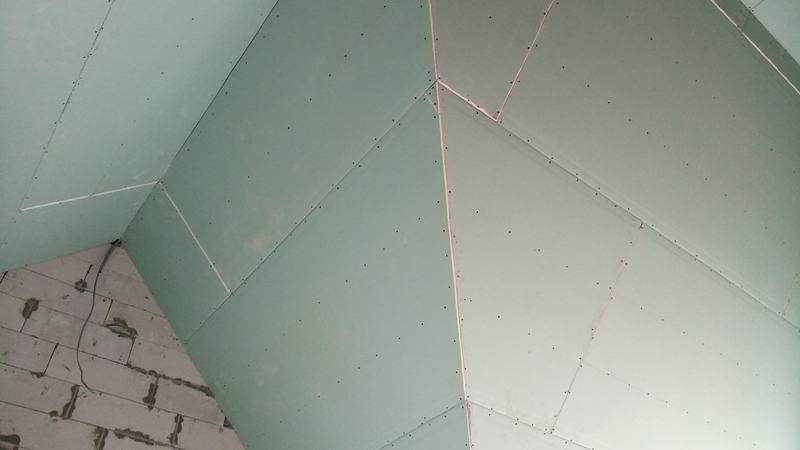 Монтаж потолков из гипсокартона второго этажа