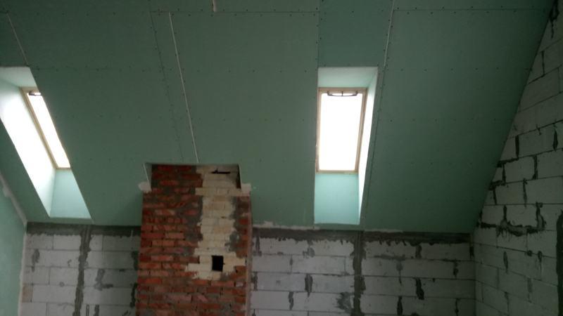 Монтаж потолков из гипсокартона с устройством ниш