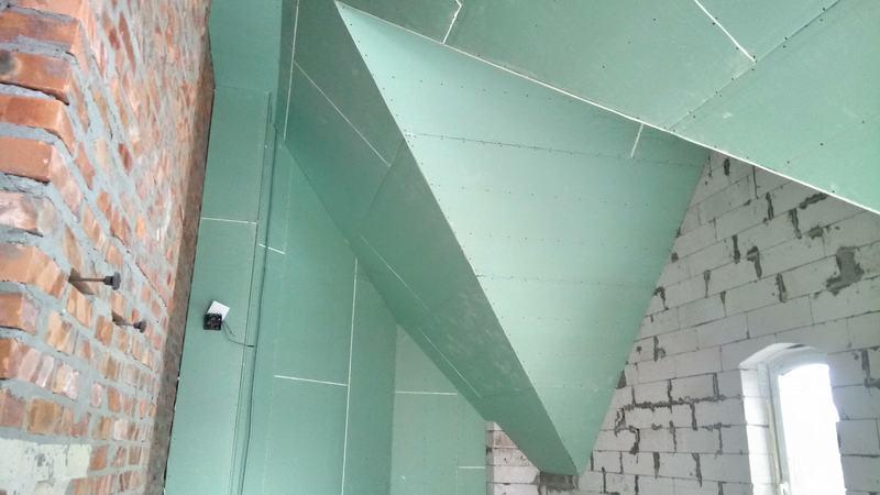 Ломаный потолок из гипсокартона. Спальня №1
