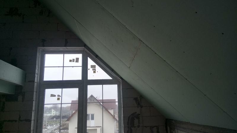 Ломаный потолок из гипсокартона. Спальня №2