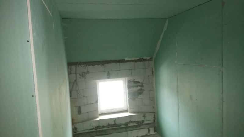 Потолок из гипсокартона. Лестничный марш