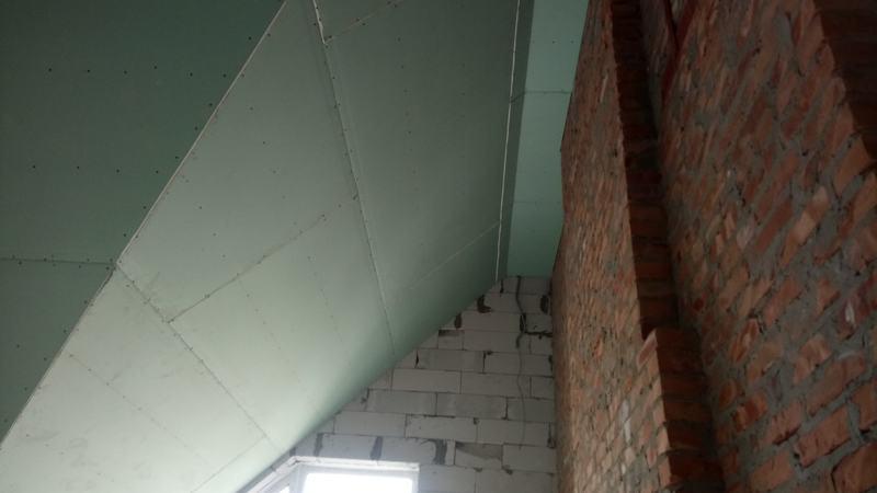 Потолок из гипсокартона. Спальня №1