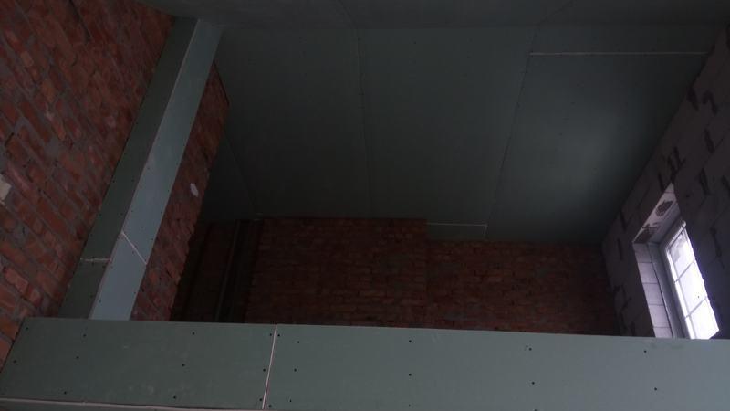 Потолок из ГКЛ. Спальня №2