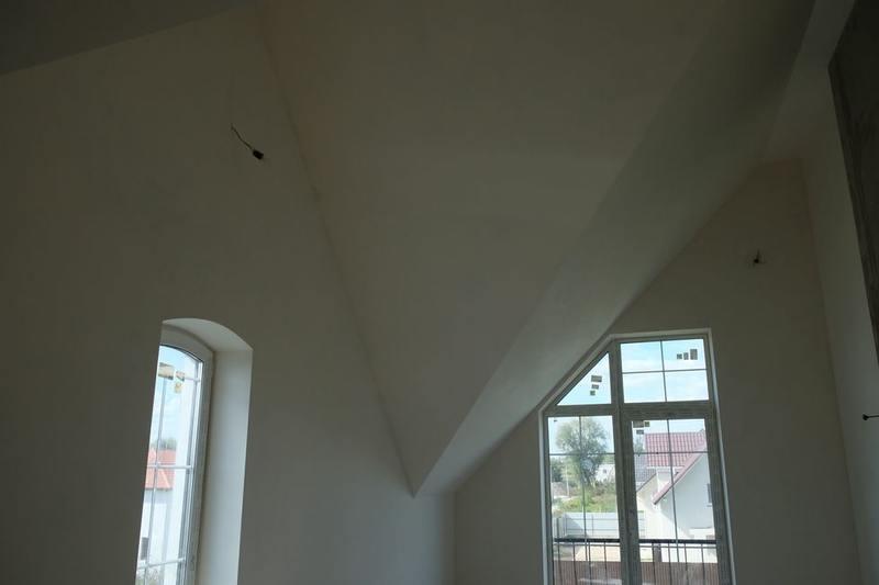 Шпаклевка потолка спальни