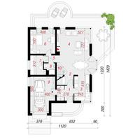 План первого этажа дома в зефирантесе