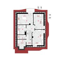 План второго этажа дома в зефирантесе