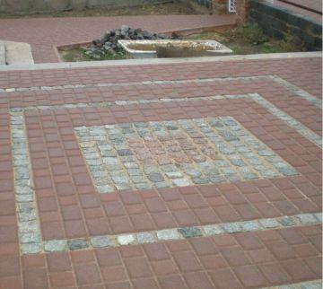 Укладка тротуарной плитки частного коттеджа Киев / КПВ Строй