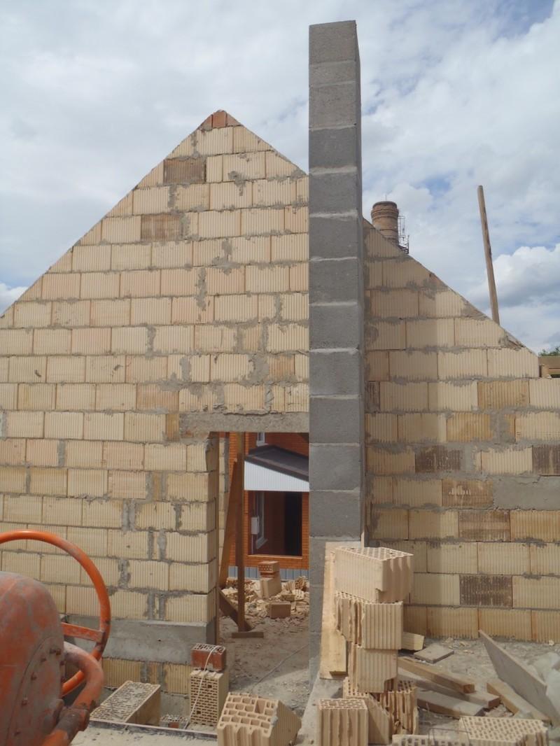 Кладка стен первого и второго этажа из керамоблока / КПВ Строй / Фото - 8