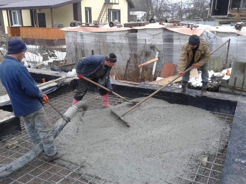 Заливка чернового пола бетоном / КПВ Строй / Фото - 7