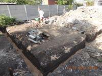 Засыпка траншеи песком под фундамент