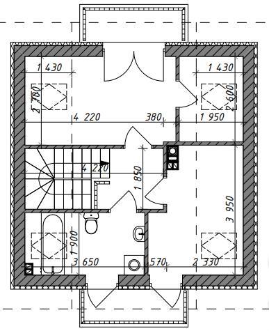 План с размерами Z264