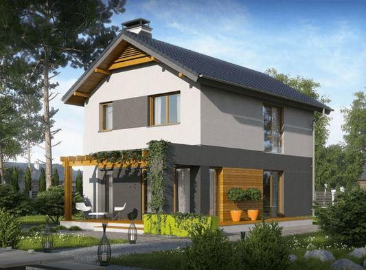 Проект дома для узкого участка z297