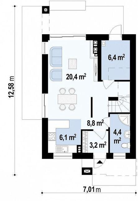 План первого этажа z297