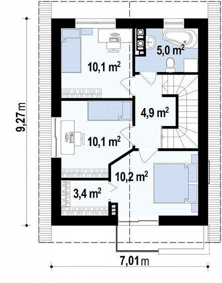 План второго этажа z297