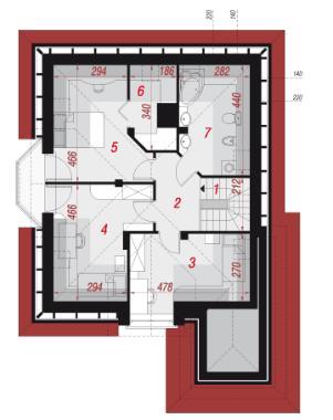 План второго этажа проекта Дом в рукколе