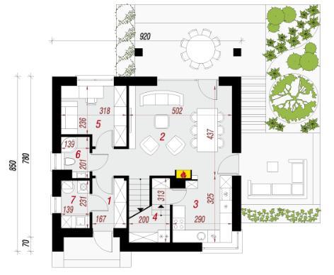 Дом в малиновках 2 план первого этажа