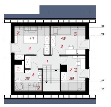 Дом в малиновках 2 план второго этажа