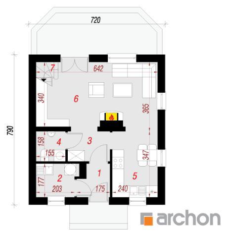Дом в бруснике план первого этажа