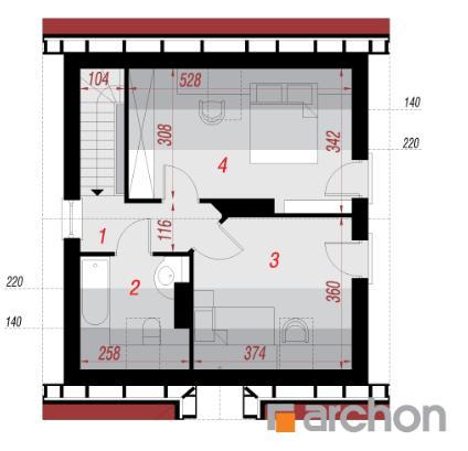 Дом в бруснике план второго этажа