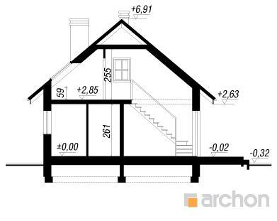 Дом в бруснике чертеж в разрезе