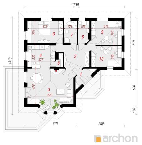 Проект Дом в пустырнике план первого этажа