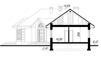 Дом в пустырнике проект в разрезе с размерами