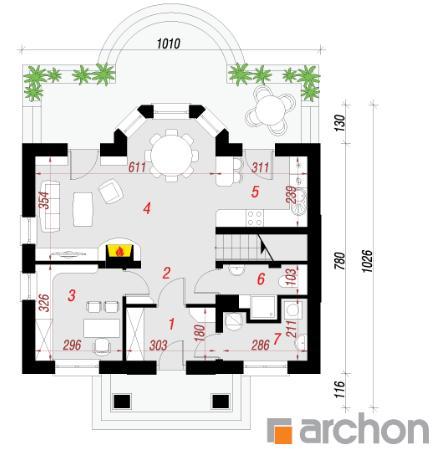 Проект Дом под белой акацией план первого этажа