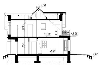 Проект Дом под белой акацией чертеж в разрезе