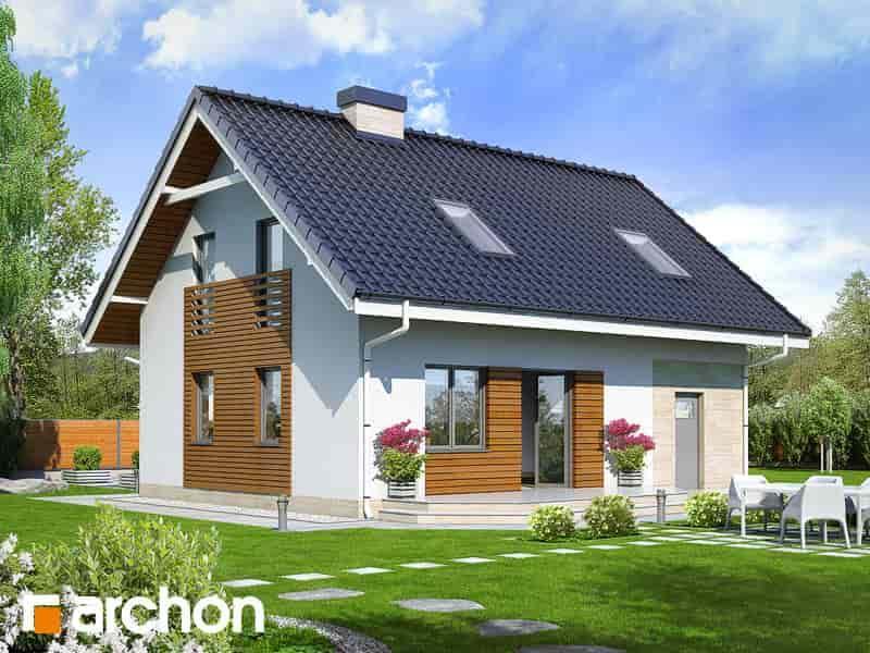 Дом в бруснике 2 вид со двора