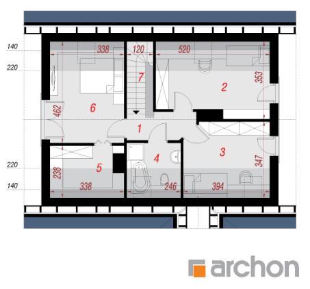 Дом в бруснике 2 план второго этажа