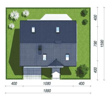 Дом в бруснике 2 размер участка
